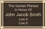 Outdoor Aluminum Cast Plaques - Bronze Color Star Employees
