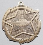 Lamp of Knowledge - Star Medal Star Medals