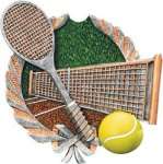 Tennis Plaque with Full Color Mount Tennis and Racquetball Awards and Trophies