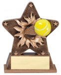 Tennis - Starburst Resin Series Tennis and Racquetball Awards and Trophies