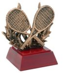 Tennis - Gold Figure Resin Tennis, Racquetball and Pickleball Awards and Trop