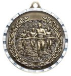 Diamond Cut Medal - Cross  Country Track and Field and Cross Country Award Trophies