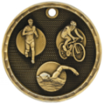 Triathlon Race 3-D Medal  Track and Field and Cross Country Medals