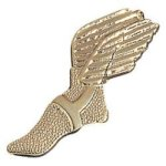 Track Winged Shoe - Chenille Pin Track and Field and Cross Country Medals