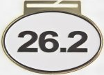 26.2 Marathon Race Medal - Olympic Style Track and Field and Cross Country Medals
