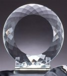 Round Plate - Optical Crystal Traditional Awards