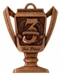 3rd Place - Trophy Cup Medallion Trophy Cup Medallion