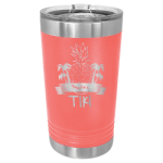 16 Oz Coral & Silver Coated Ringneck Pint Tumbler with Lid    Tumblers