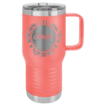 20 oz. Vacuum Insulated Travel Mug with Slider Lid - Coral Tumblers