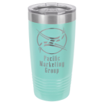 20 Oz Teal Coated Ringneck Tumbler with Lid Tumblers and Travel Mugs