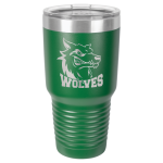 30 Oz Green Coated Ringneck Tumbler with Lid Tumblers and Travel Mugs