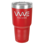 30 Oz Red Coated Ringneck Tumbler with Lid Tumblers and Travel Mugs