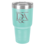 30 Oz Teal Coated Ringneck Tumbler with Lid Tumblers and Travel Mugs