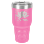 30 oz Pink Coated Ringneck Tumbler with Lid      Tumblers and Travel Mugs