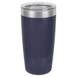 20 Oz Navy Blue Coated Ringneck Tumbler with Lid Tumblers and Travel Mugs