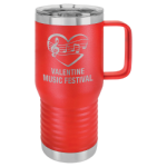 20 oz. Vacuum Insulated Travel Mug with Slider Lid - Red Tumblers and Travel Mugs