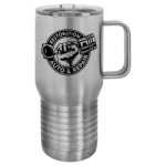 20 oz. Stainless Steel Vacuum Insulated Travel Mug with Slider Lid Tumblers and Travel Mugs