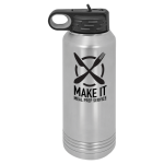 32 oz. Polar Camel Water Bottle - Silver Tumblers and Travel Mugs