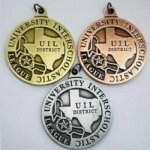 UIL Medal - 1.25 with District UIL Medals