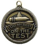 Did My Best On The Test - Value Star Medal Value Star Medallion