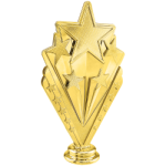 Action Series - Gold Star on Marble Base Victory Award Trophies