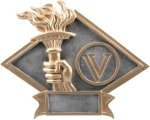 Victory - Diamond Plate Resin Trophy Victory Award Trophies