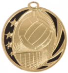 MidNite Star Medal - Volleyball Volleyball and Throwball Award Trophies