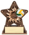 Volleyball - Starburst Resin Series Volleyball and Throwball Award Trophies