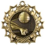 Volleyball - Ten Star Medal Volleyball and Throwball Award Trophies