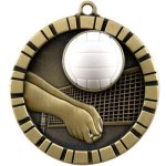 Volleyball - 3-D Medallion Volleyball and Throwball Medals