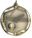Volleyball - Ribbon Medallion Volleyball and Throwball Medals