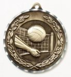 Diamond Cut Medal - Volleyball Volleyball Medals