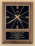 American Walnut Vertical Wall Clock with Square Face. Wall Clock