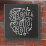Leatherette Wall Decor & Signage - Black/Silver Wall Decor and Signs