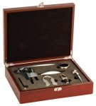 Rosewood Wine Gift Set - 5 Piece Wine Accessories