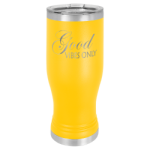 20 Oz Yellow Coated Pilsner Tumbler      Wine Glasses and Gifts