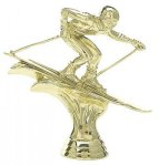Downhill Skier - Male on Round Base Winter Sports