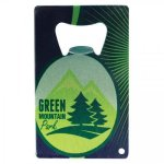 Stainless Steel Bottle Opener - Full Color Personalization Wood Gifts