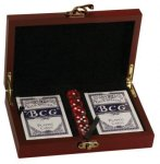 Card and Dice Set Wood Gifts