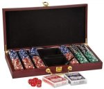 Poker Set Deluxe Wood Gifts