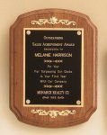 Walnut Plaque with Decorative Accents Wreath Awards