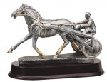 Harness Racing, Sulke - Silver Sculpture Resin Z-Trophies Misc