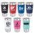 Black/White Polar Camel Tumbler with Silicone Grip and Clear Lid 20 oz. Polar Camel Tumblers